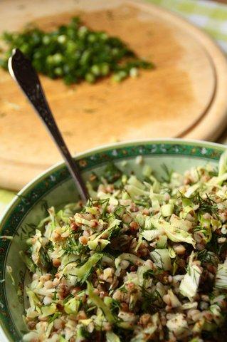 салат с гречкой. фитнес-рецепт
