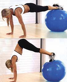 пилатес. упражнения на мяче